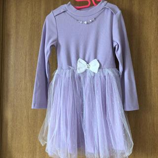 しまむら - ワンピース ドレス ネックレス付き 120