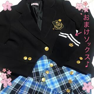F.O.KIDS - 美品 ALGY  可愛い スーツ ジャケット スカート チェック 卒服 160