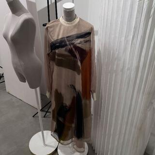 Ameri VINTAGE - 3日まで限定価格/sサイズ/LOUISE ART DRESS/新宿ルミネ