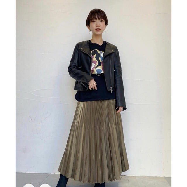 STUDIOUS(ステュディオス)のUNITED TOKYO*ラムレザージャケット レディースのジャケット/アウター(ライダースジャケット)の商品写真