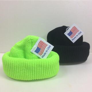 ロスコ(ROTHCO)のROTHCO ニット帽 BLACK&LIME  2個SET(ニット帽/ビーニー)