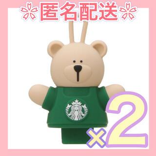 スターバックスコーヒー(Starbucks Coffee)のスタバ リユーザブルカップ専用 キャップべアリスタ 2個セット さくら 2021(その他)
