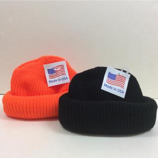 ロスコ(ROTHCO)のROTHCO ニットブラック&オレンジ  2個SET(ニット帽/ビーニー)