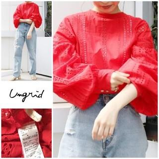 Ungrid - 美品【Ungrid◆アングリッド】カットワーク刺繍ブラウス