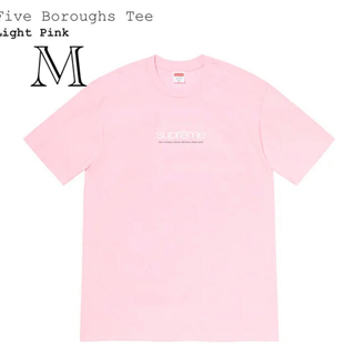 Supreme - ピンクM シュプリーム Five Boroughs Tee 2021SS