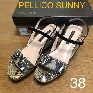 PELLICO - PELLICO SUNNY ペリーコサニー パイソンサンダル 38