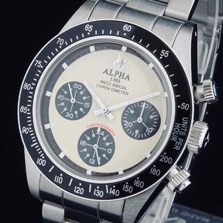 alpha - ◆希少◆ アルファ 新品 メンズ腕時計 クロノグラフ 手巻き スケルトン 即納