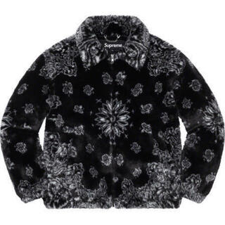 Supreme - Supreme Bandana Faux Fur Jacket Black XL