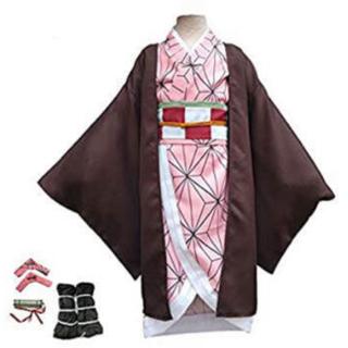 禰󠄀豆子 子供用 コスプレ 衣装(衣装一式)