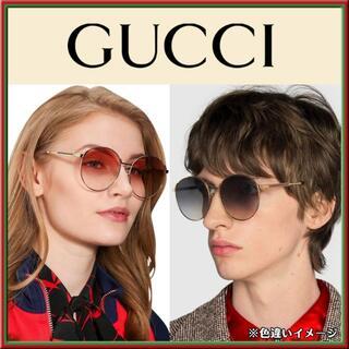 Gucci - 新品★本物★GUCCI ラウンド フレーム・サングラス GG0206SK 002