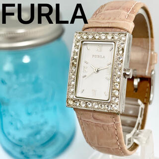 Furla - 63 FURLA フルラ時計 レディース腕時計 新品電池 スクエア ピンク