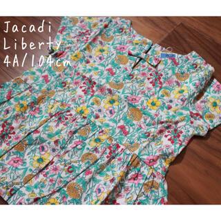 Jacadi - 新品4A/104cm ジャカディリバティプリント レイチェル 花柄 ブラウス