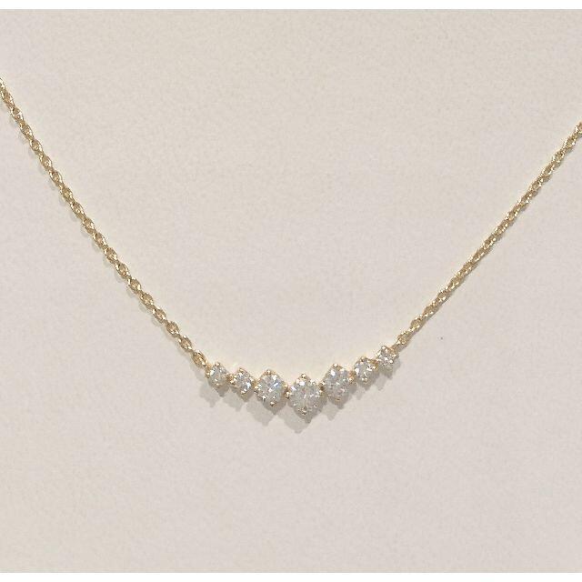 K18ダイヤモンドネックレス レディースのアクセサリー(ネックレス)の商品写真