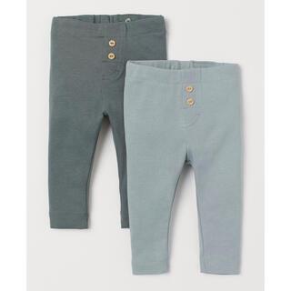 H&M - 【新品未使用】今期物 H&M レギンス パンツ 90cm 2本セット