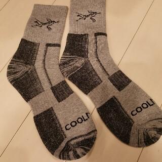 アークテリクス 靴下 ソックスサイズ 26センチ〜28センチ薄グレー(ソックス)