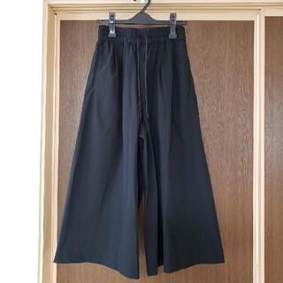 MUJI (無印良品) - ストレッチイージーワイドパンツ 黒