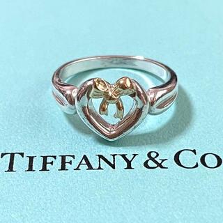 Tiffany & Co. - ティファニー ハート リボン リング 14号 ゴールド シルバー ヴィンテージ