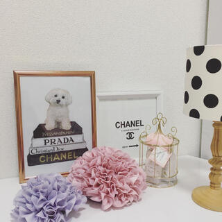フランフラン(Francfranc)のアートポスター A4サイズ pkフレーム付き 壁掛け(犬)