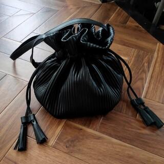 しまむら - しまむら プリーツ巾着バッグ ブラック