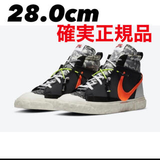 NIKE - READYMADE × NIKE BLAZER MID BLACK 28cm