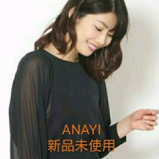 ANAYI - 新品タグ付2万☆2019 ANAYIアナイ☆ドライツイルシフォンブラウス 38