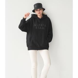 ALEXIA STAM - アリシアスタンStitch Logo Hoodie Black