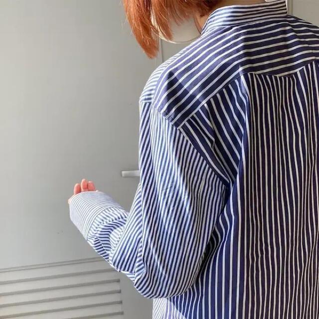 UNIQLO(ユニクロ)のUNIQLO +J 2020aw スーピマコットン シャツ ストライプ レディースのトップス(シャツ/ブラウス(長袖/七分))の商品写真