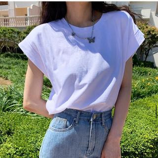 dholic - 新品タグ付 DHOLIC ディーホリック Tシャツ タックキャップスリーブ 白T