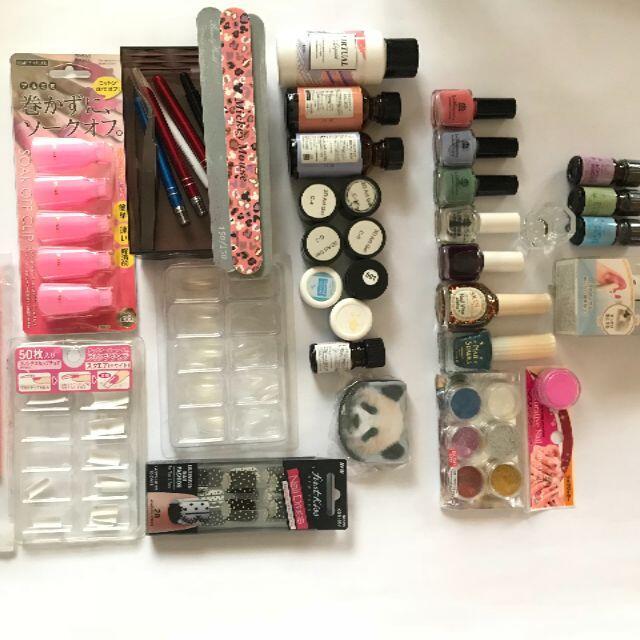 ネイルグッズ + コスメボックス +Ufurl コスメ/美容のメイク道具/ケアグッズ(メイクボックス)の商品写真