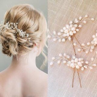 パール ヘアアクセサリー 3本セット 髪飾り ヘアピン