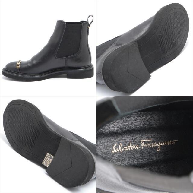 Salvatore Ferragamo(サルヴァトーレフェラガモ)のフェラガモ ヴァラ レザー 5 ブラック レディース ブーツ レディースの靴/シューズ(ブーツ)の商品写真