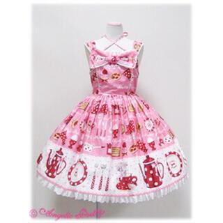 Angelic Pretty - French Cafe胸リボンジャンパースカート