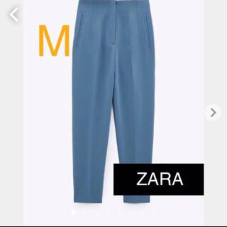 ZARA - 【完売品】ZARA ハイウエストパンツ Mサイズ パウダーブルー