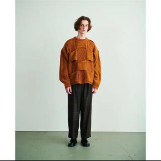 YOKE 20aw  CROSSING CABLE CREW NECK KNIT