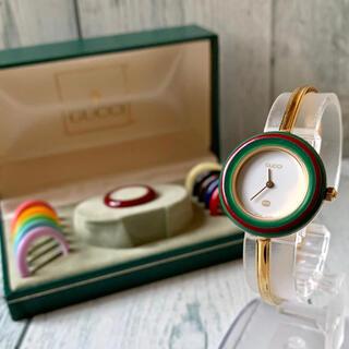 Gucci - 【美品】GUCCI グッチ 腕時計 チェンジベゼル 11/12 12色完備