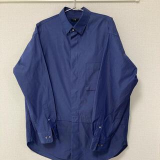 UNIQLO - UNIQLO +J スーピマコットンオーバーサイズシャツ ブルー Mサイズ
