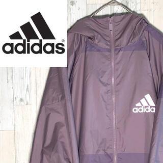 adidas - 【希少】アディダス⭐︎ナイロンジャケット パープル 紫 90s 古着 ゆるだぼ