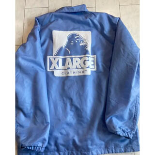 エクストララージ(XLARGE)のXLサイズ XLARGE  コーチジャケット ブルー(ナイロンジャケット)