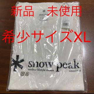 スノーピーク(Snow Peak)の新品 タグ付き スノーピーク 60th Logo Tシャツ XLサイズ(Tシャツ/カットソー(半袖/袖なし))