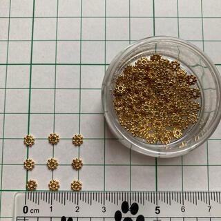 キワセイサクジョ(貴和製作所)のメタルパーツ フラワー ゴールド(各種パーツ)