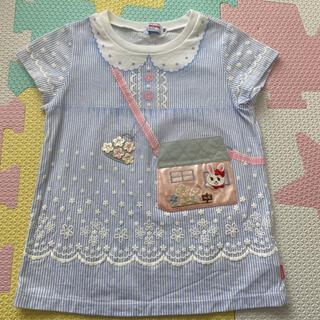 mikihouse - ミキハウス  うさこ 、ポシェット Tシャツ 100