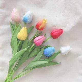 《新品未使用》【チューリップ】8本セット 造花