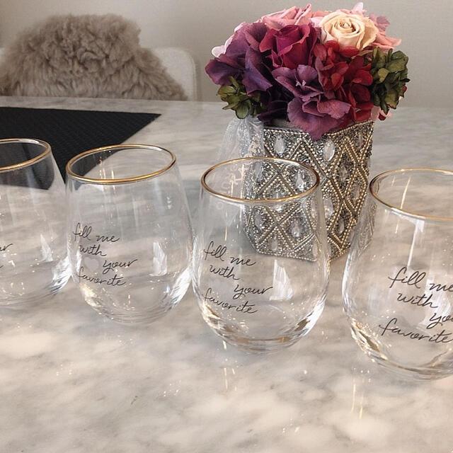 Francfranc(フランフラン)のFrancfranc♡ガラスコップ グラス4個セット インテリア/住まい/日用品のキッチン/食器(グラス/カップ)の商品写真