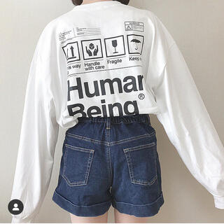 【3/5まで限定値下げ】Human being long T-shirt