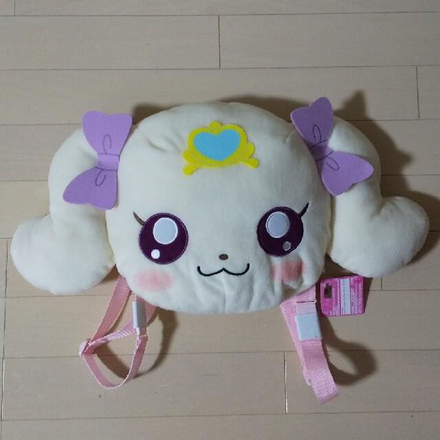 BANDAI(バンダイ)の新品  ヒーリングっとプリキュア  顔型ぬいぐるみリュック  ラテ エンタメ/ホビーのおもちゃ/ぬいぐるみ(キャラクターグッズ)の商品写真