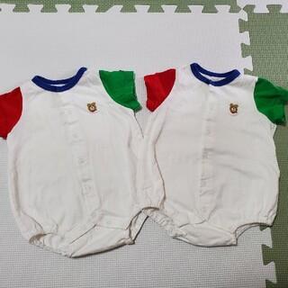 HOT BISCUITS - ミキハウス ホットビスケッツ ロンパース 双子コーデ 二枚セット 70サイズ