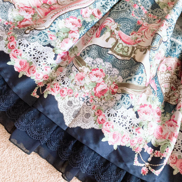 Angelic Pretty(アンジェリックプリティー)のAngelic Pretty Belle Epoque Rose SK レディースのスカート(ひざ丈スカート)の商品写真