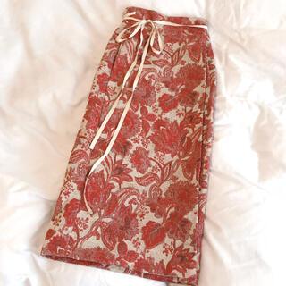 Ameri VINTAGE - ヴィンテージ 風 ジャガード 巻きスカート