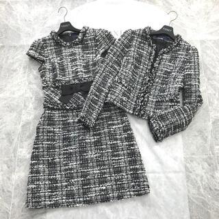 M'S GRACY - 3/3まで 美品 掲載 ツイード  リボン ジャケット ワンピース セットアップ