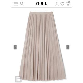 GRL - GRL プリーツスカート グレージュ